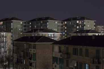 ©Dario Bosio/DARST Veduta delle case popolari nel Quartiere Mirafiori da via Poma/via Scarsellini, Torino, 16/03/2018
