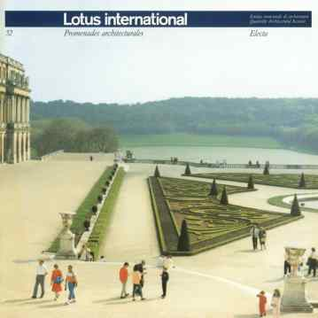 Copertina di Lotus international 52, 1986