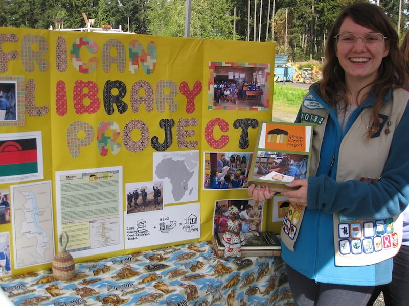 """""""Thanks to all who contributed,"""" said Nikki Hobbs, who headed up the project to qualify for the Girl Scout equivalent of the Eagle Rank."""