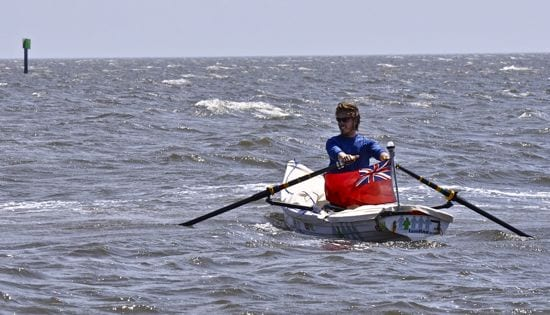 """Lewis Colam, """"Rowing from Miami to New York"""""""