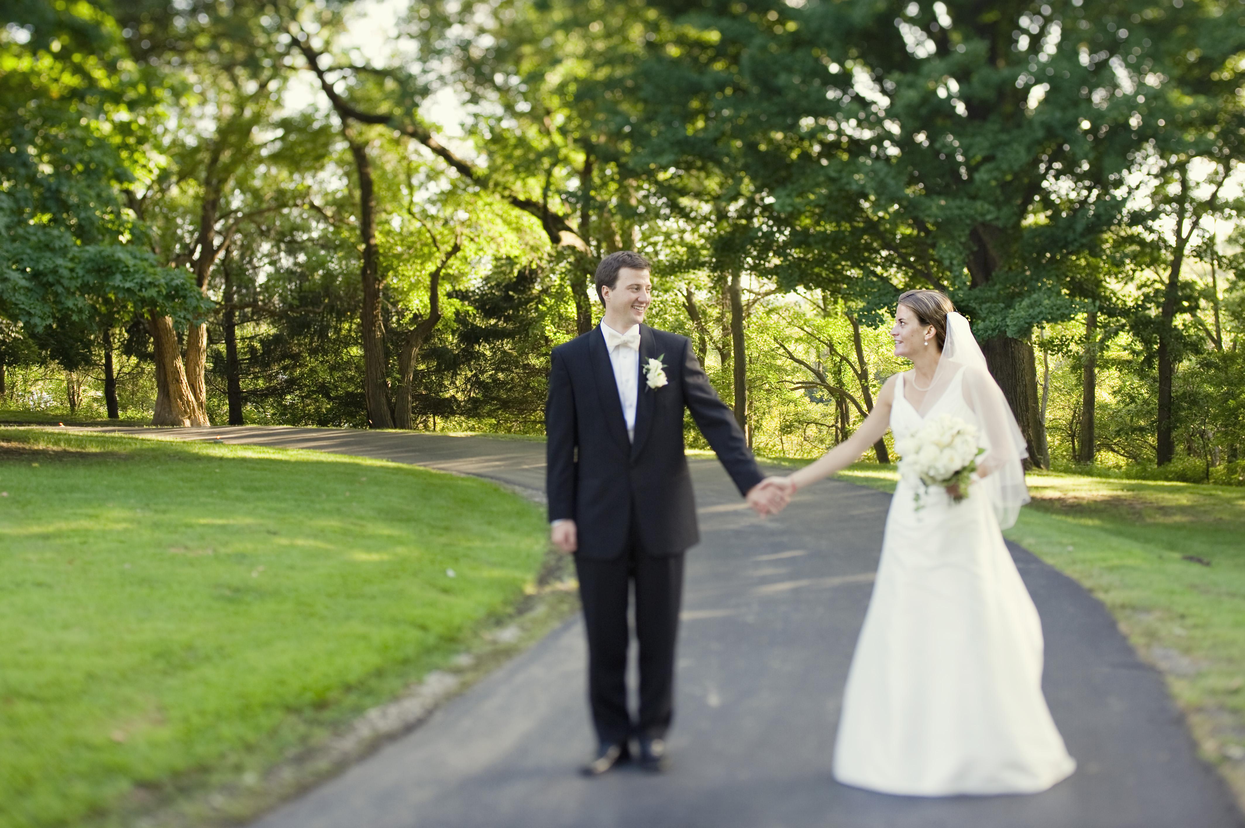 Ti Nathan Wedding walk on drive