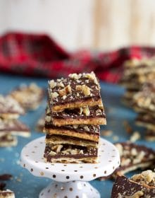 Saltine Cracker Toffee Recipe | TheSuburbansoapbox.com