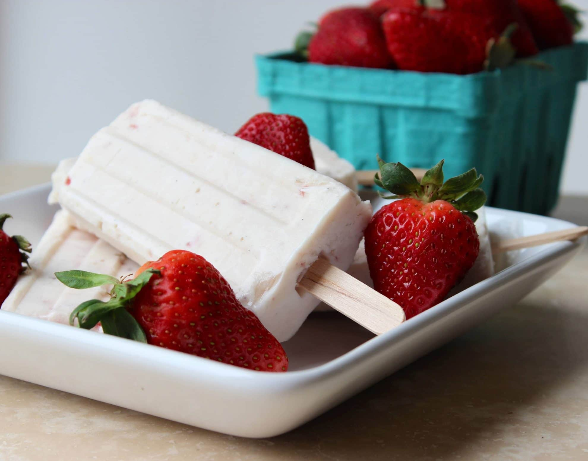 Strawberry, Vanilla Bean, Cheesecake Pudding Pops