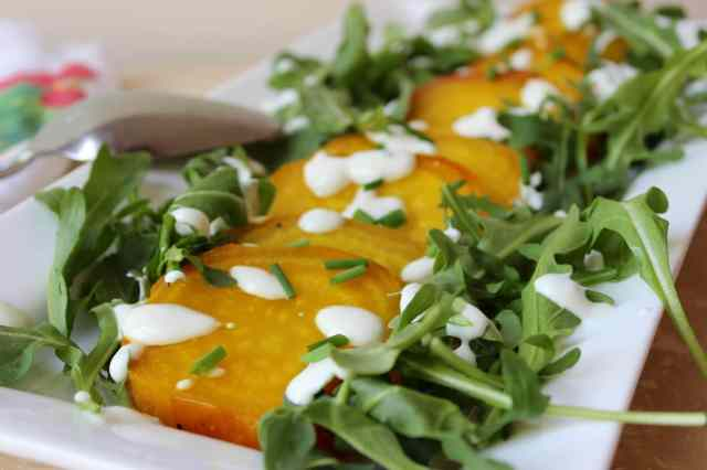 Golden Beet and Arugula Salad