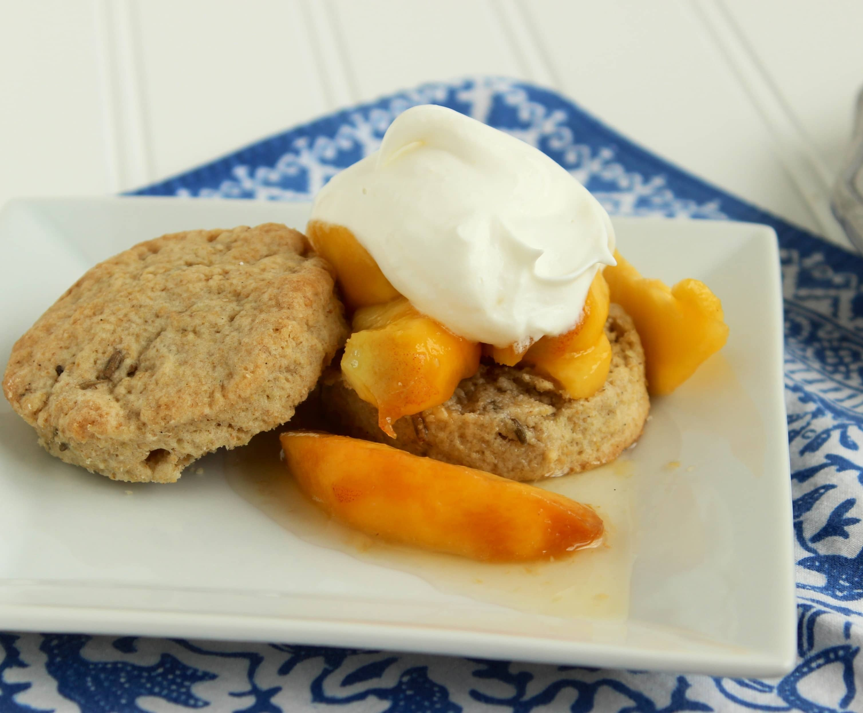 Peach Shortcakes with Lavender Biscuits