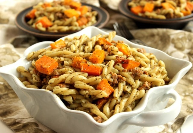 Butternut, Sausage and Sage Pesto