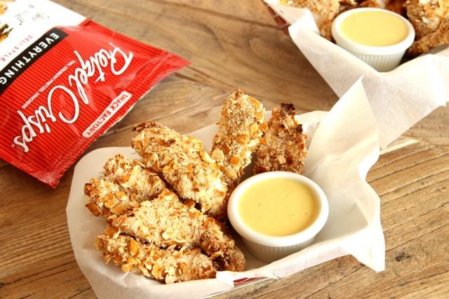 Pretzel Crusted Chicken Fingers with Apple Cider Honey Mustard Sauce
