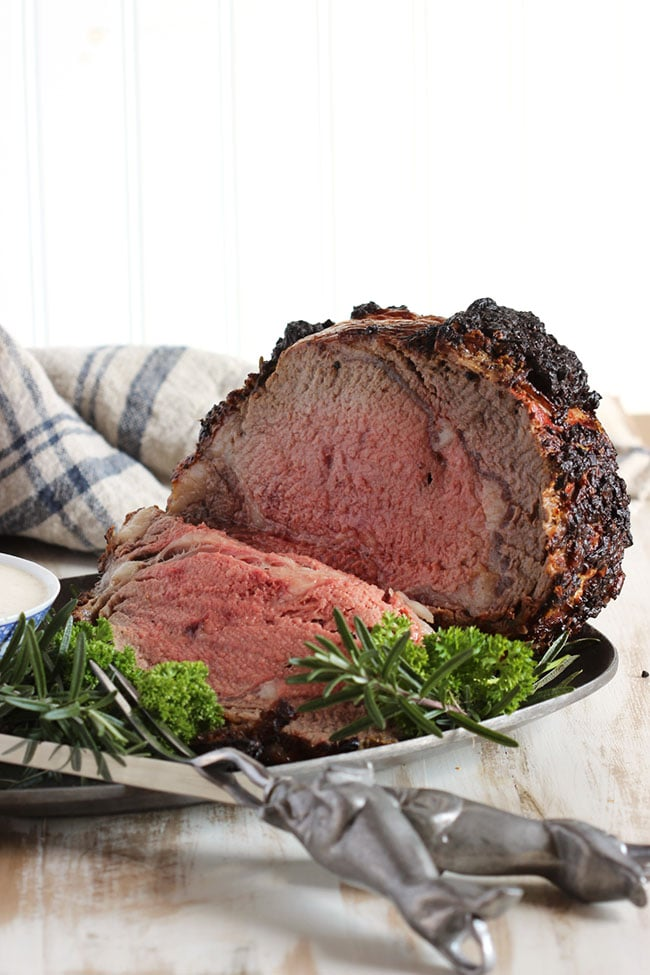Herb Crusted Standing Rib Roast with Mustard-Horseradish Sauce | The Suburban Soapbox