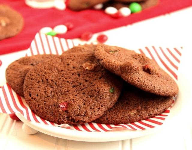 Mocha Brownie and Mint M&M Cookies   The Suburban Soapbox