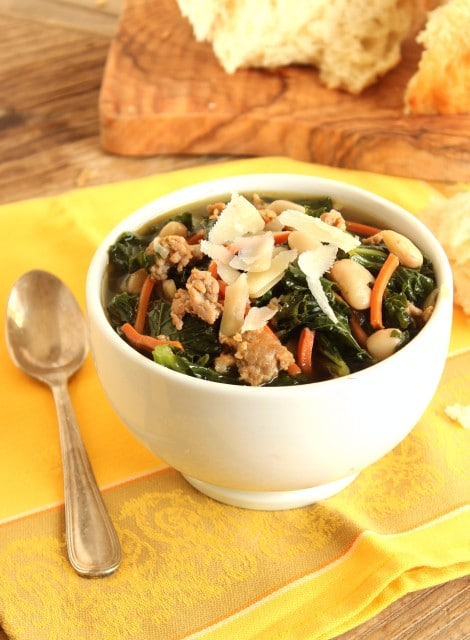 Sausage White Bean and Kale Soup - The Suburban Soapbox