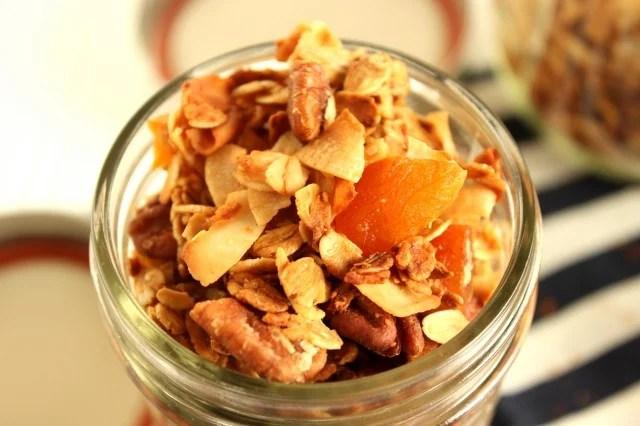 Toasted Coconut Apricot Pecan Granola | The Suburban Soapbox