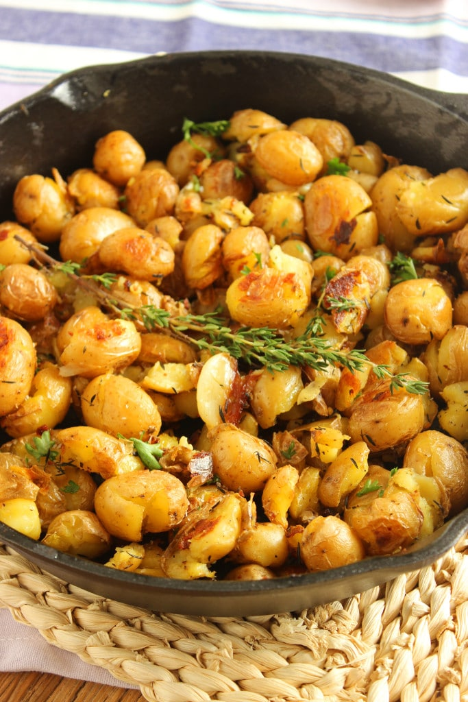 Crispy Smashed Skillet Potatoes | The Suburban Soapbox