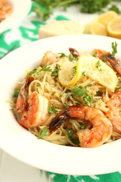 Meyer Lemon Shrimp Scampi | The Suburban Soapbox