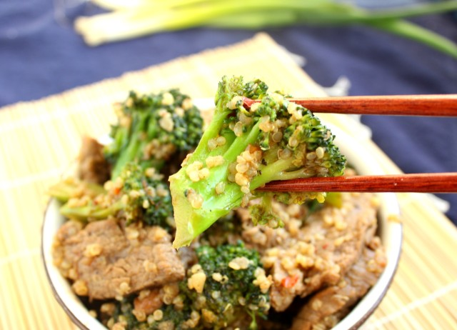 Beef Broccoli and Quinoa Stir Fry | The Suburban Soapbox