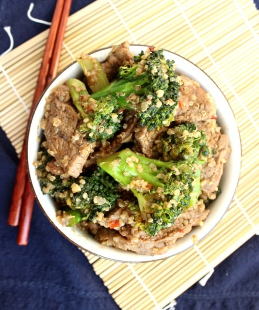 Beef, Broccoli and Quinoa Stir-Fry | The Suburban Soapbox