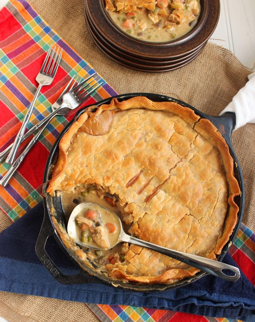 Skillet Chicken Pot Pie | TheSuburbanSoapbox.com