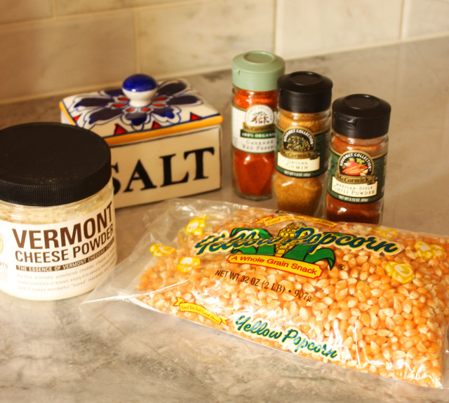 Chili Cheese Popcorn Ingredients