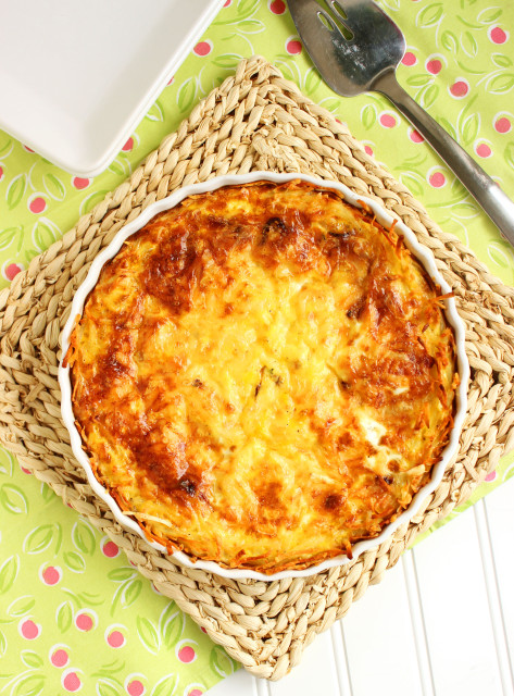 French Onion Quiche with Hash Brown Crust | The Suburban Soapbox