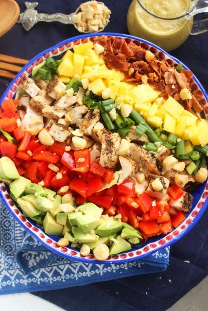 Caribbean Cobb Salad with Fire-Roasted Vinaigrette | The Suburban Soapbox