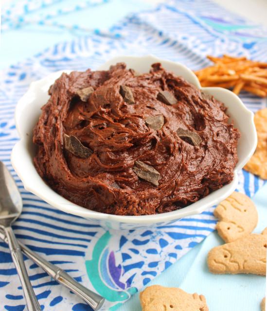 Chocolate-Chocolate Chunk Cookie Dough Dip | The Suburban Soapbox
