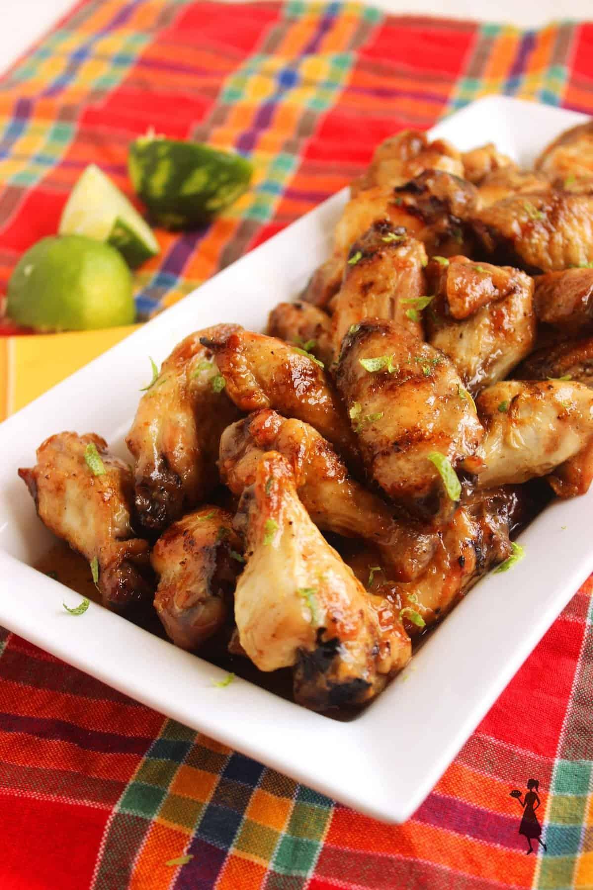 Grilled Honey-Habanero Chicken Wings