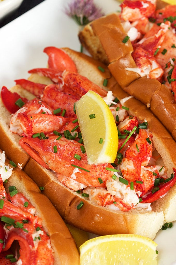 Super easy to make Classic Lobster Rolls are ready in minutes. The BEST way to celebrate summer in style. | TheSuburbanSoapbox.com