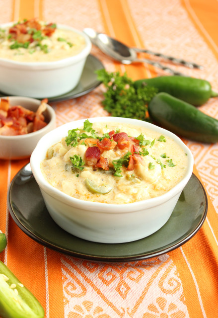 Spicy Corn Chowder with Bacon | The Suburban Soapbox