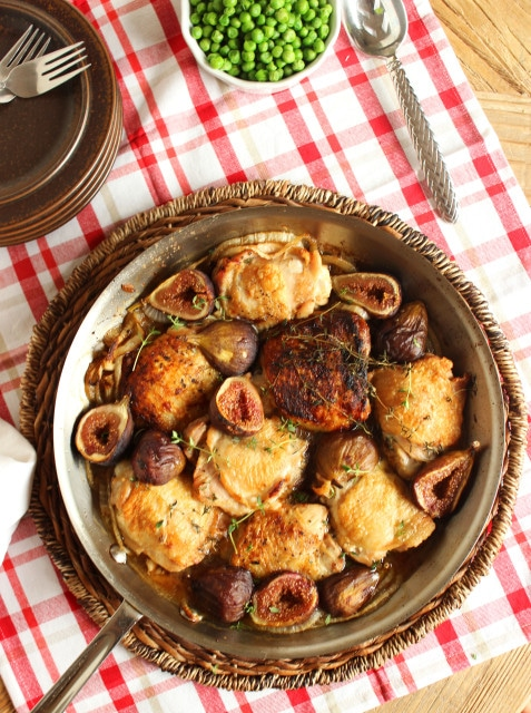 Chicken with Figs 8Pan Roasted Crispy Chicken Thighs with Figs | The Suburban Soapbox