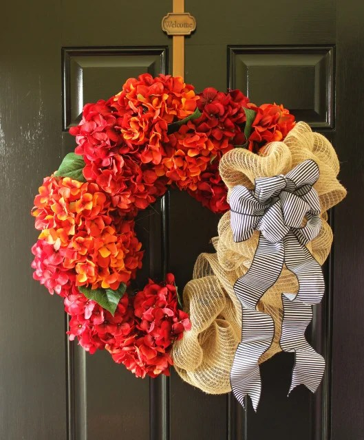 Fall Hydrangea Wreath 10