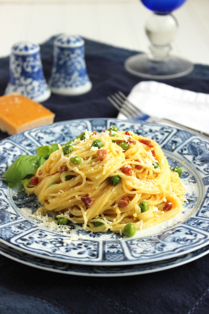 Skinny Capellini Carbonara | The Suburban Soapbox
