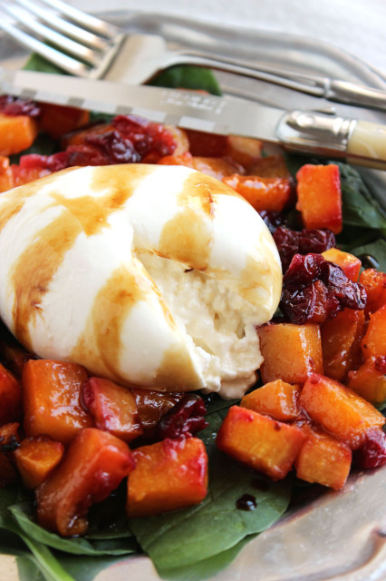 Butternut Squash Cranberry and Burrata Salad | The Suburban Soapbox