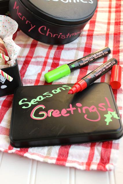Chalkboard Cookie Tins | The Suburban Soapbox