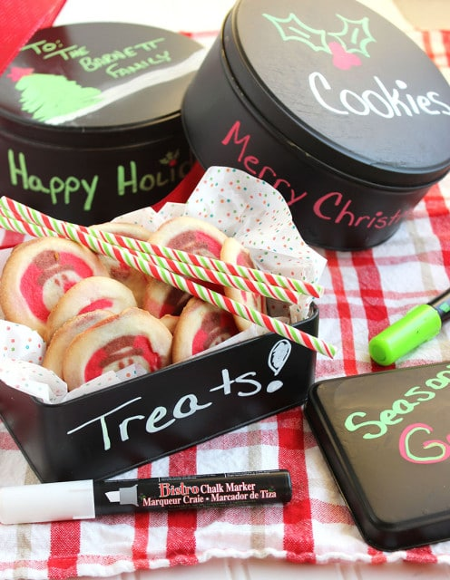 Chalk Board Cookie Tins | The Suburban Soapbox