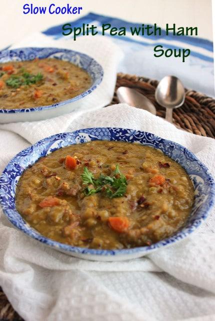 Slow Cooker Split Pea with Ham Soup | The Suburban Soapbox