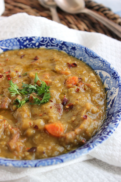Slow Cooker Split Pea with Ham Soup | The Suburban Soapbox