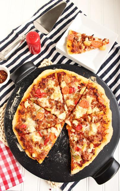 Sausage and Giardiniera Pizza | The Suburban Soapbox #pizza