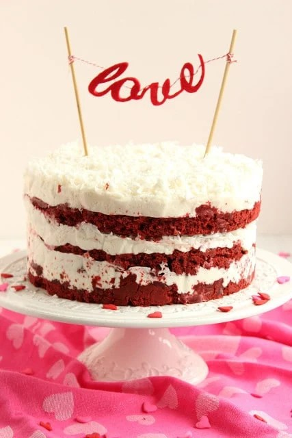 Red Velvet Coconut Cake with Coconut Cream Cheese Frosting | The Suburban Soapbox