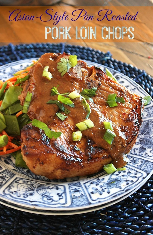 Asian-Style Pan-Roasted Pork Loin Chops | The Suburban Soapbox #asianrecipe #porkchops