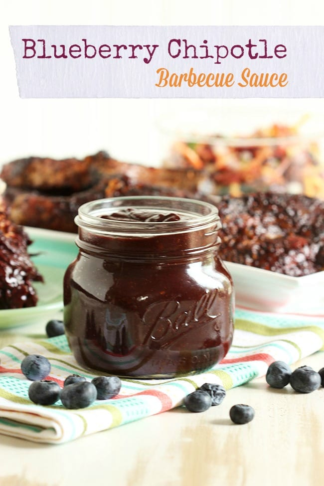 Blueberry Chipotle Barbecue Sauce | The Suburban Soapbox #barbecuesauce #cleaneating