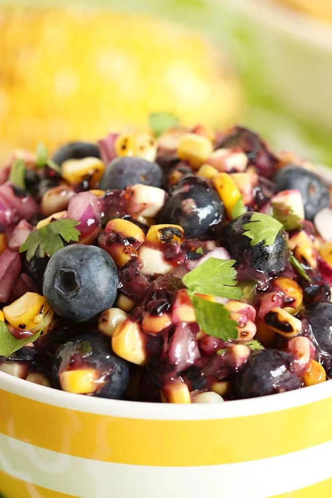 Blueberry and Corn Salsa | The Suburban Soapbox #blueberry #salsa