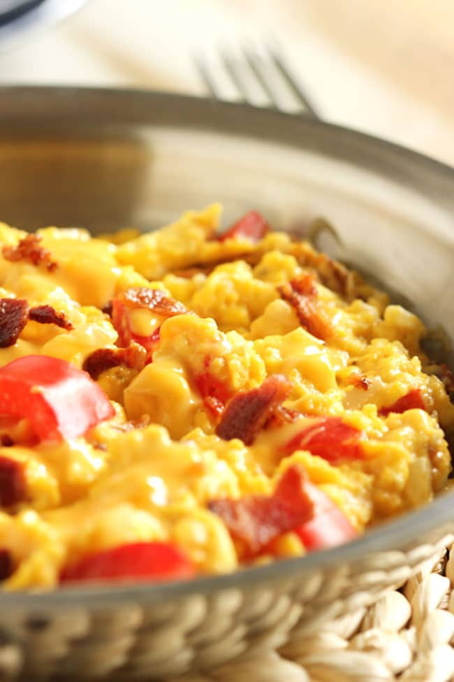 Cheesy Bacon and Egg Skillet | The Suburban Soapbox #breakfastskillet