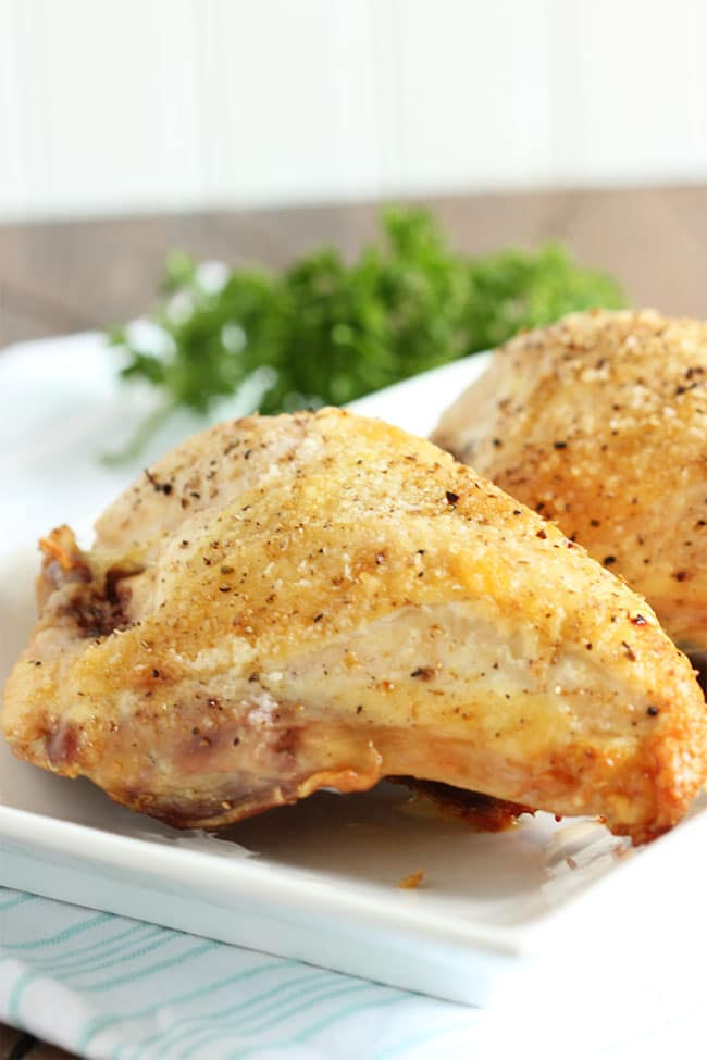 Simple Roasted Chicken Breasts | The Suburban Soapbox #backtobasics #chicken