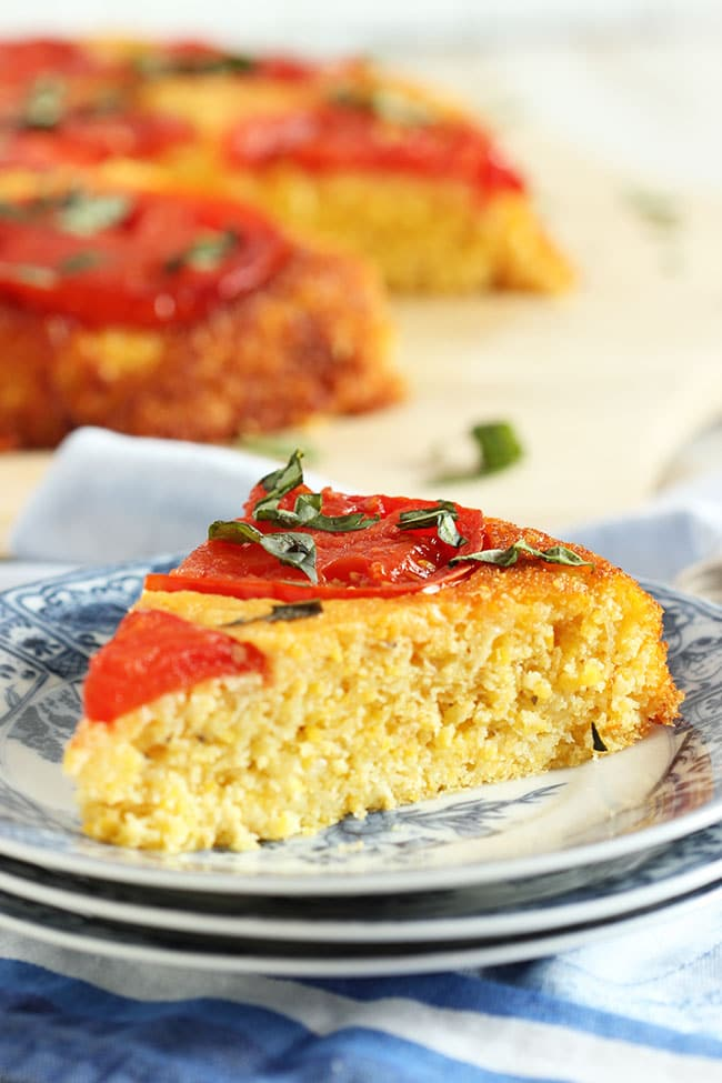 Tomato Upside Down Cornbread | The Suburban Soapbox #skillet #cornbread #baking  #kitchencreativity