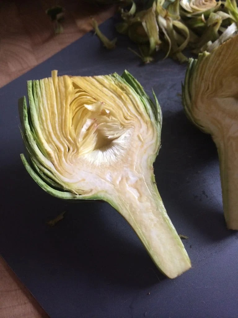 How to cut an artichoke. #grilledartichokes