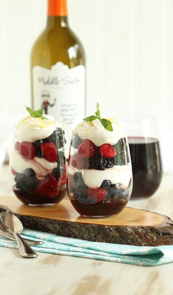 Red Wine Berry Parfaits with Honey Whipped Goat Cheese | The Suburban Soapbox #middlesister #dropsofwisdom