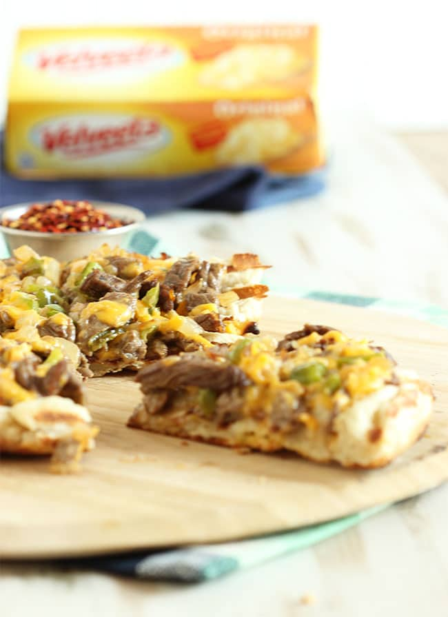 Grilled Philly Cheesesteak Pizza | The Suburban Soapbox #eatliquidgold #pizza