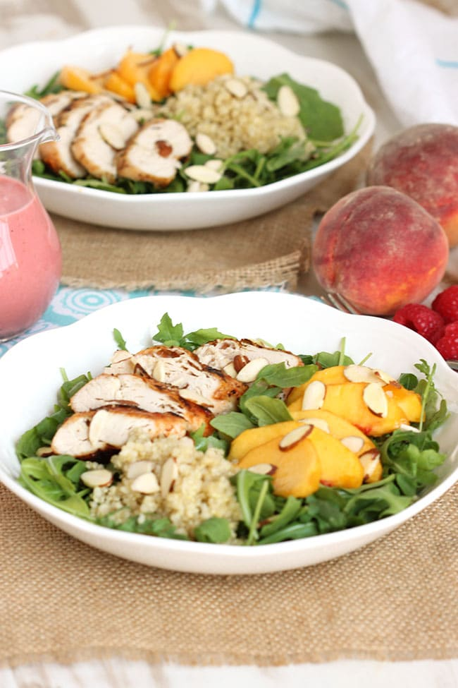 Chicken Peach and Quinoa Salad | The Suburban Soapbox #salad