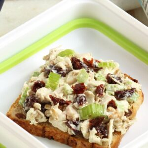 Chicken Salad with Dried Cherries and Sunflower Seeds   The Suburban Soapbox #ALDI #BacktoSchool