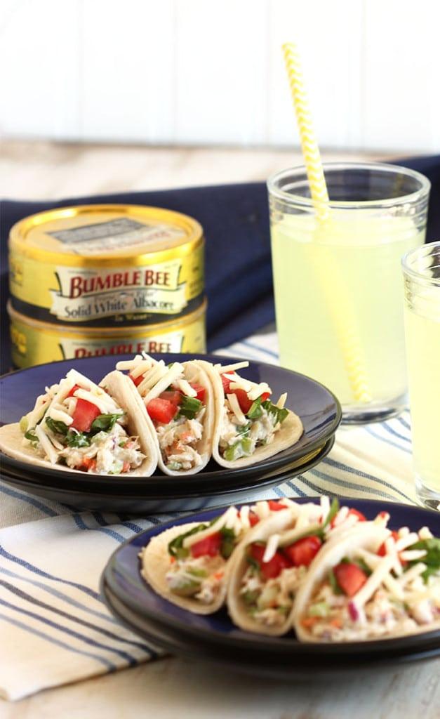 Tuna Salad Tacos | The Suburban Soapbox #tunastrong #cg