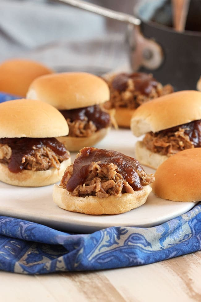 Apple Butter Pulled Pork Sliders | The Suburban Soapbox